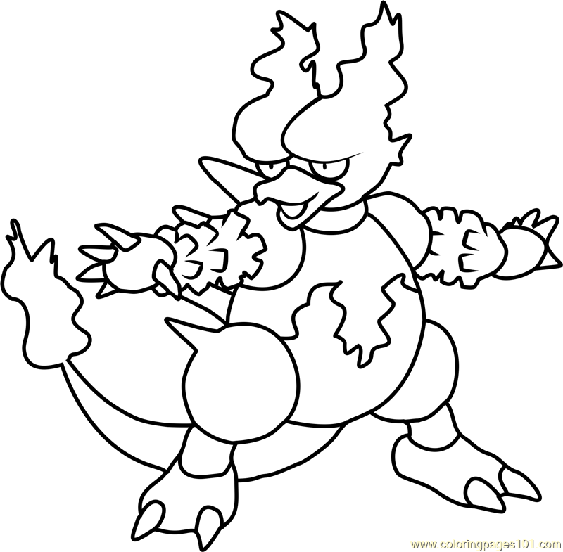 Magmar Pokemon Coloring Page