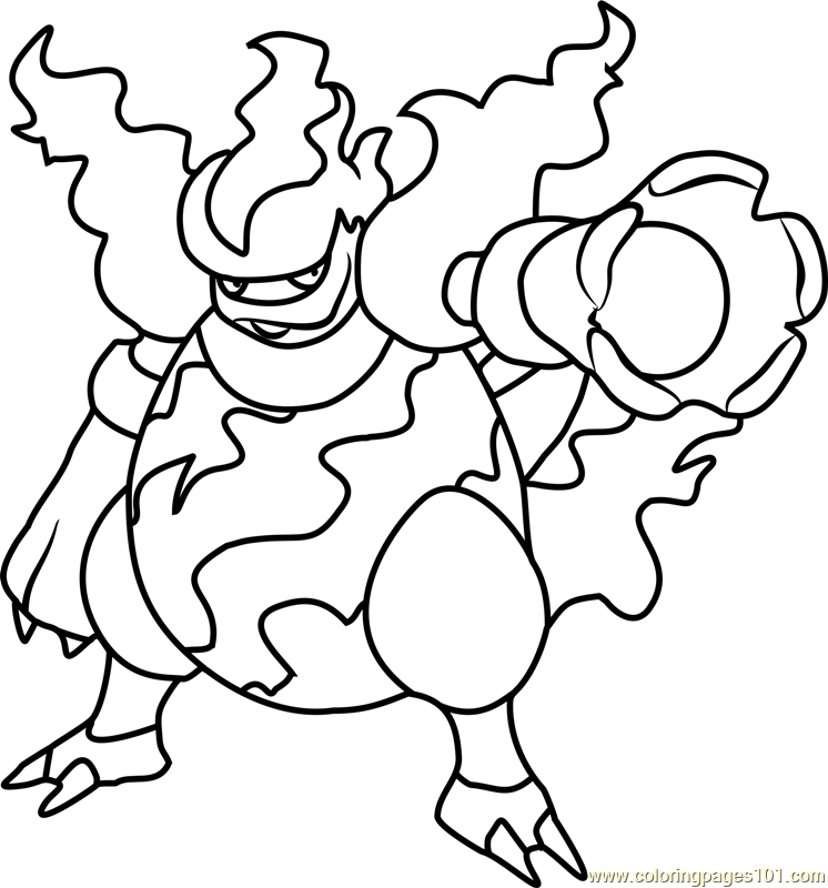 Magmortar Pokemon Coloring Page - Free Pokémon Coloring Pages ...