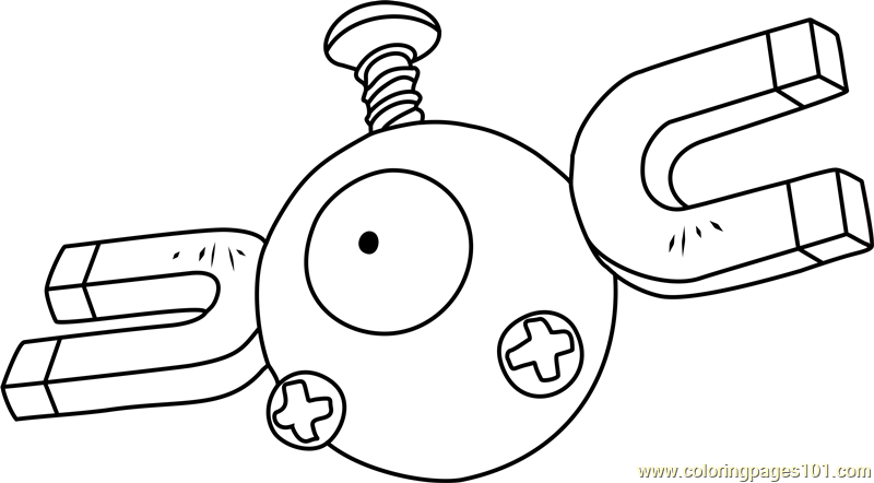 magnemite pokemon coloring page