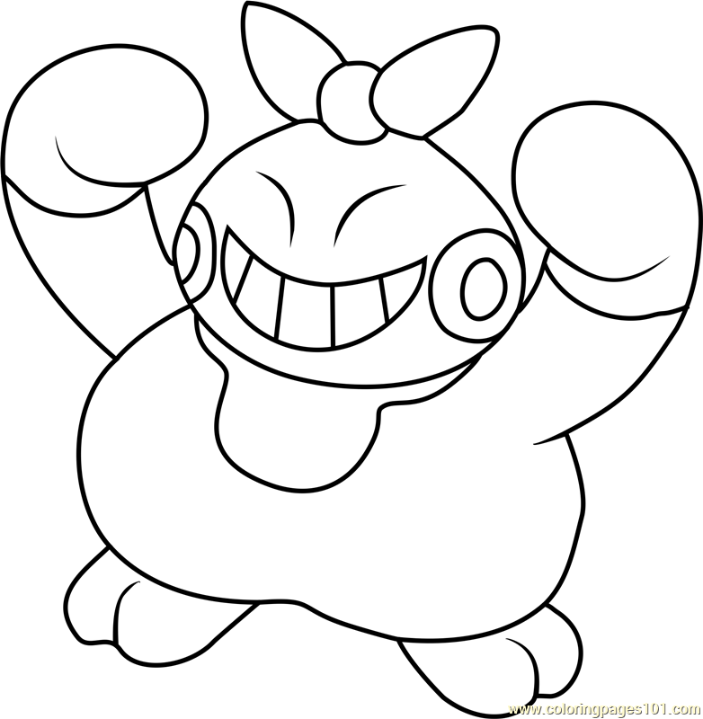Makuhita Pokemon Coloring Page
