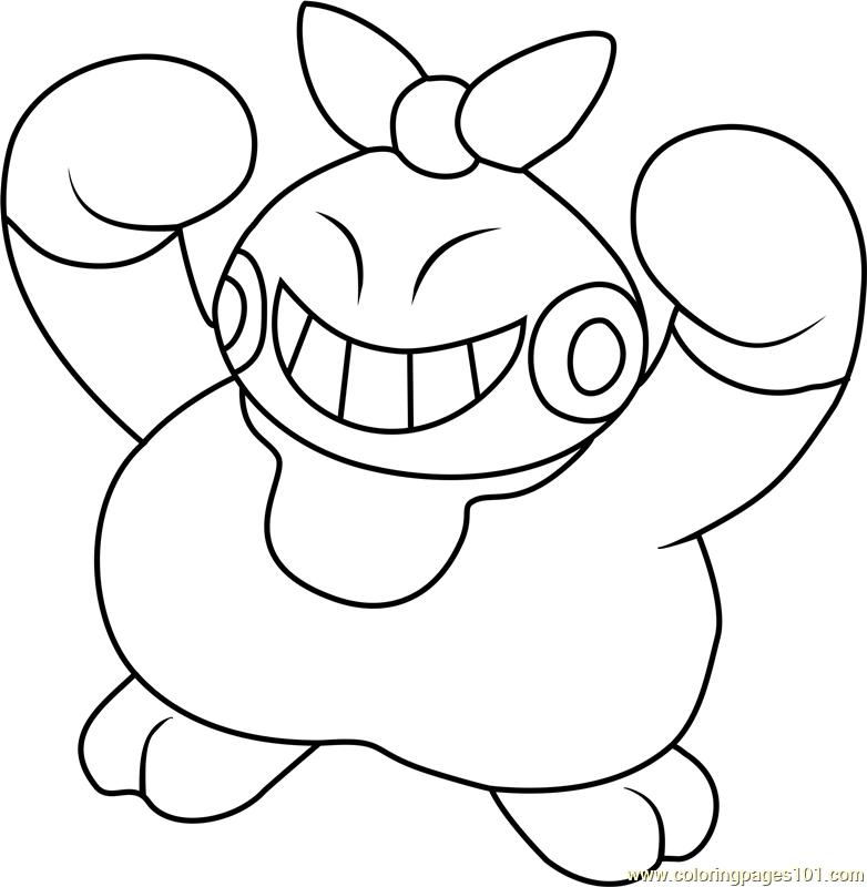 Makuhita Pokemon Coloring Page