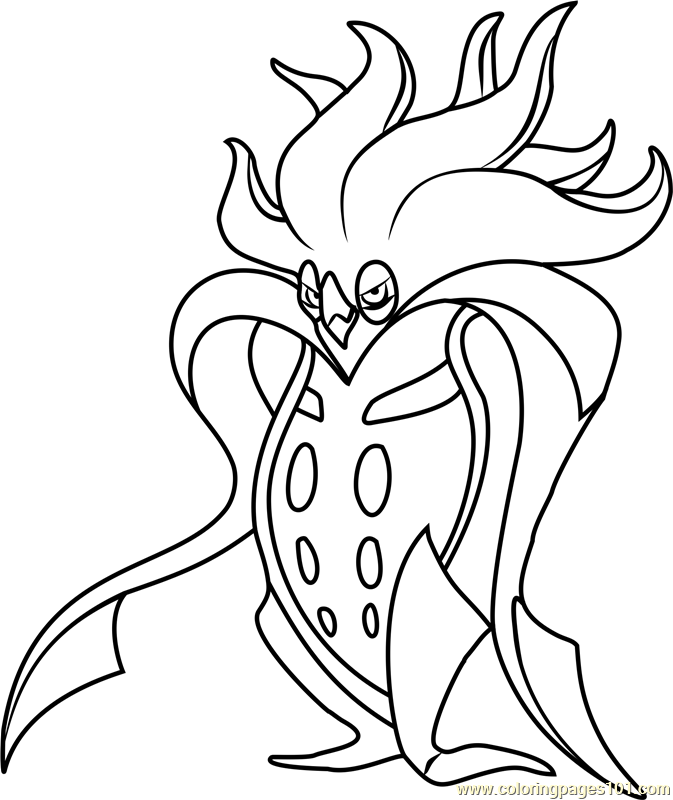 Malamar Pokemon Coloring Page