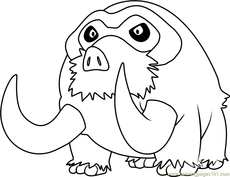 Kleurplaten Pokemon Machamp Mamoswine Pokemon Coloring Page Free Pok 233 Mon Coloring