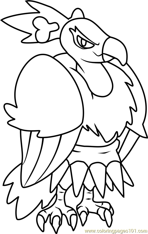 Mandibuzz Pokemon Coloring Page