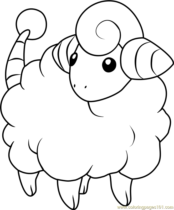 Mareep Pokemon Coloring Page
