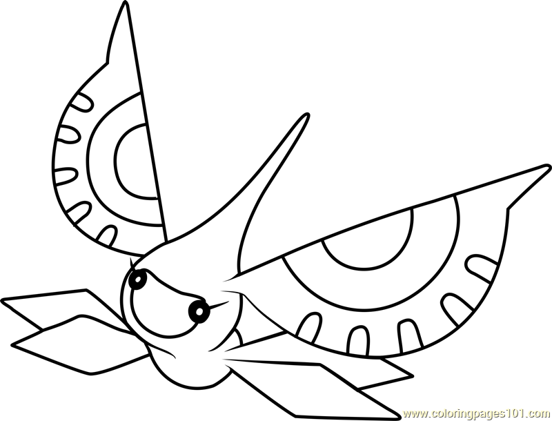 Masquerain Pokemon Coloring Page Free Pok mon Coloring Pages ColoringPages101