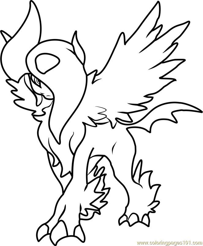 coloring pages absol - photo#10