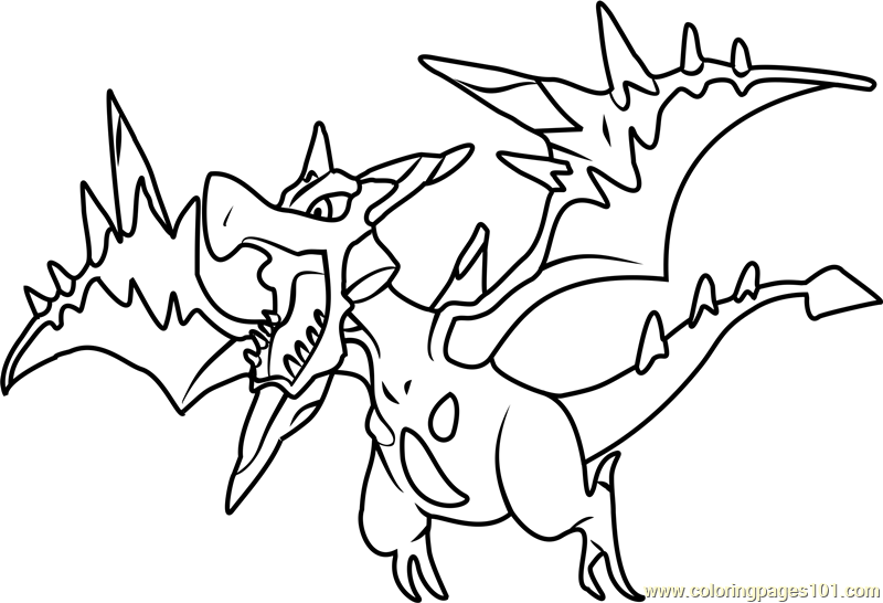 Mega Aerodactyl Pokemon Coloring Page Free Pokemon Coloring