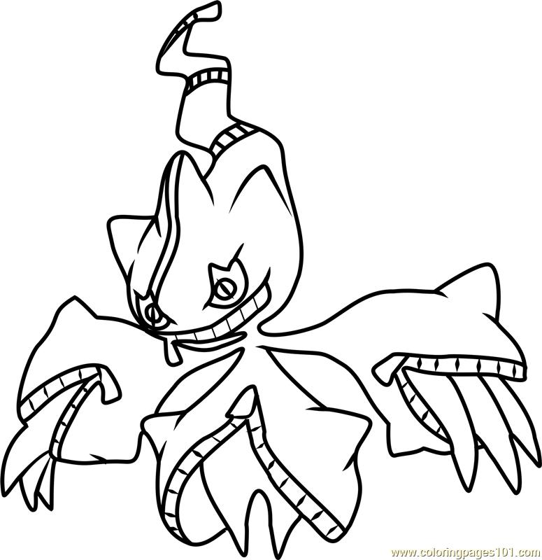 Mega Banette Pokemon Coloring Page Free Pok 233 Mon Coloring