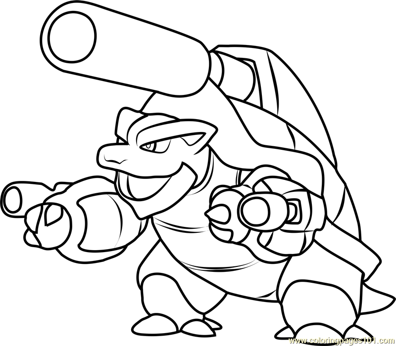 Mega Blastoise - Free Colouring Pages
