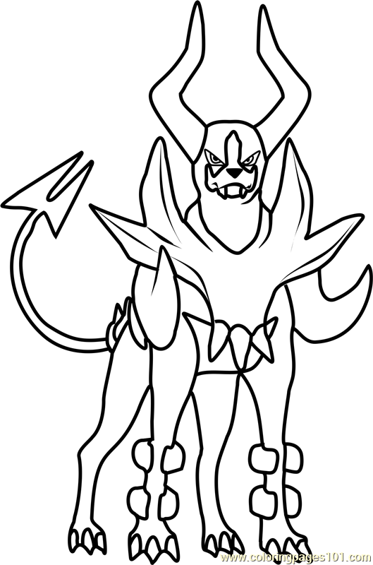 Mega Houndoom Pokemon Coloring