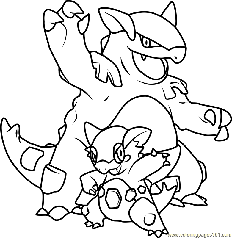 Kangaskhan Pokemon Coloring Page
