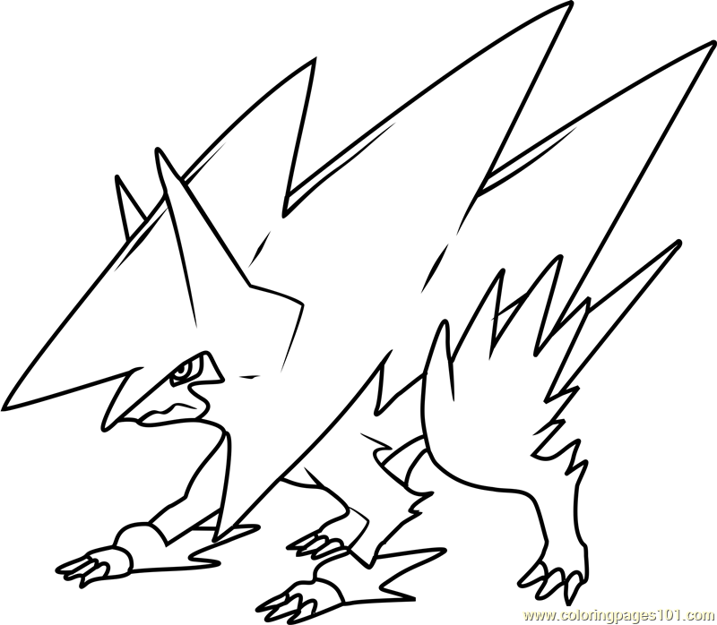 Mega Manectric Pokemon Coloring Page - Free Pokémon