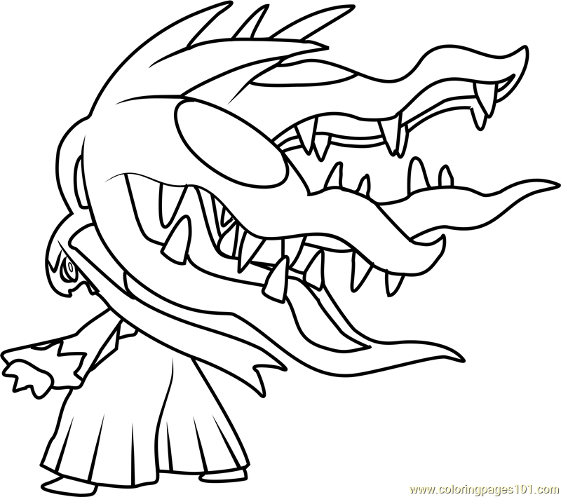 Mega Mawile Pokemon Coloring Page