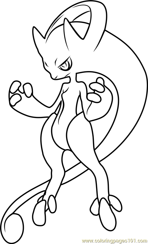 Mega Mewtwo Y Pokemon Coloring Page Free Pokemon Coloring Pages Coloringpages101 Com