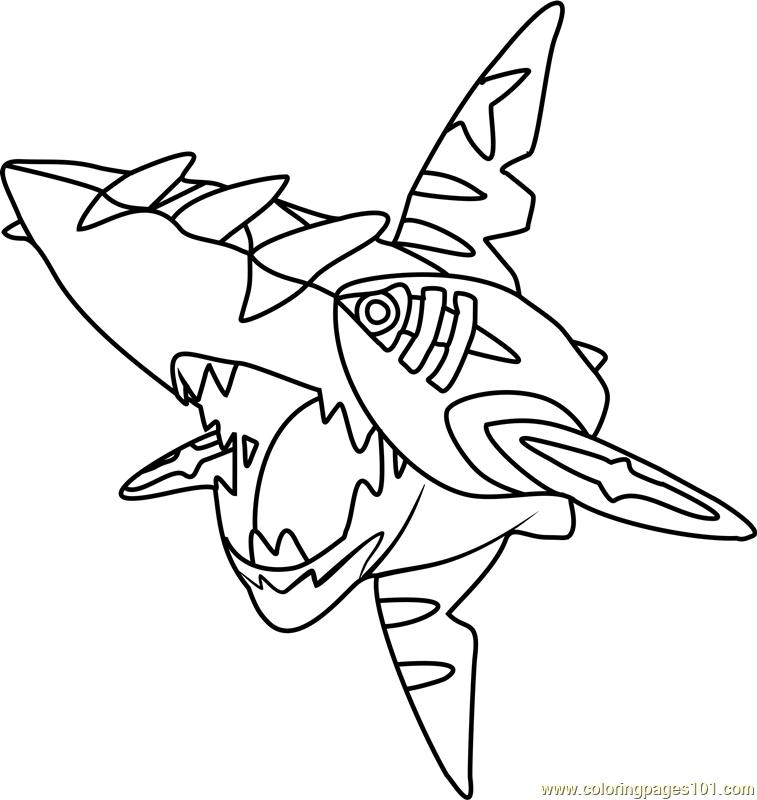 Mega Sharpedo Pokemon Coloring Page For Kids Free Pokemon Printable Coloring Pages Online For Kids Coloringpages101 Com Coloring Pages For Kids