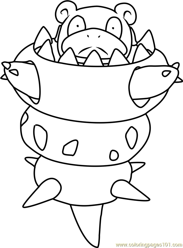 Mega Slowbro Pokemon Coloring Page