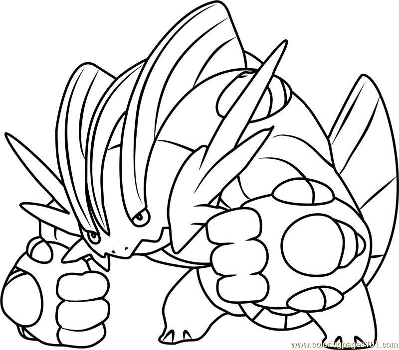 Mega Swampert Pokemon Coloring Page For Kids Free Pokemon Printable Coloring Pages Online For Kids Coloringpages101 Com Coloring Pages For Kids