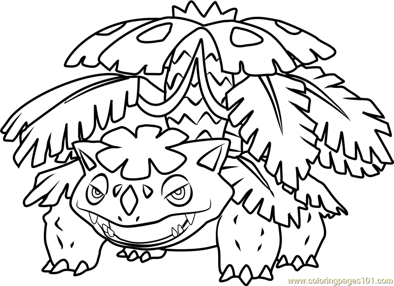 Mega Venusaur Pokemon Coloring Page Free Pokmon Coloring Pages