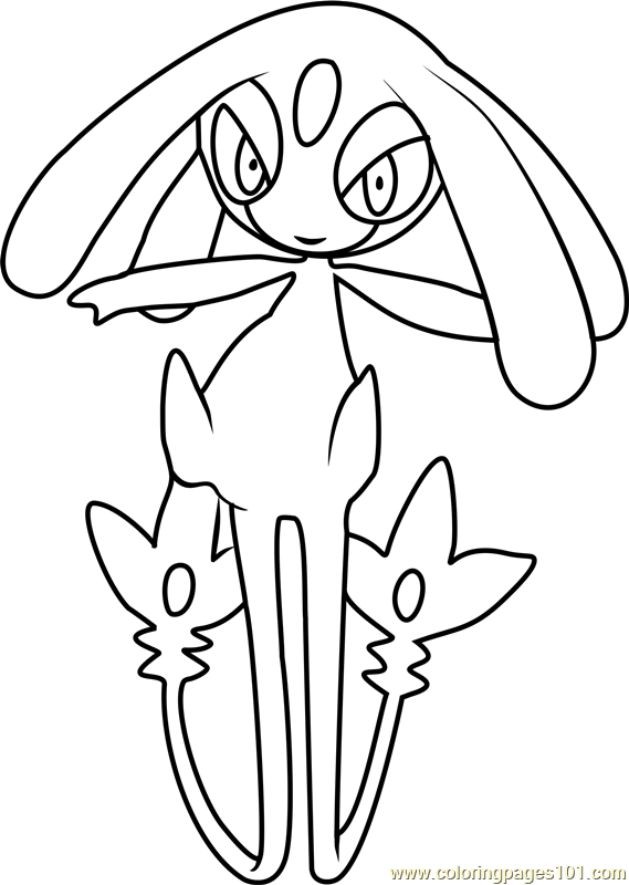 Mesprit Pokemon Coloring Page - Free Pokémon Coloring Pages ...