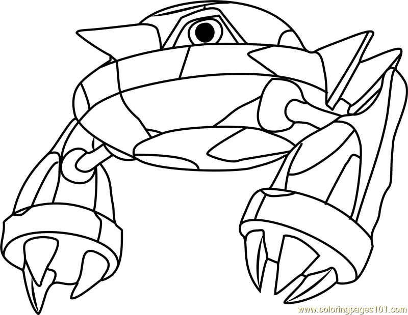 Metang Pokemon Coloring Page