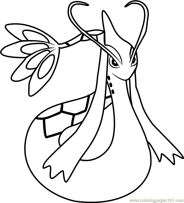 Milotic pokemon coloring coloring pages coloring pages for Flygon coloring pages