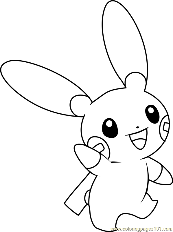 minun coloring pages - photo#5