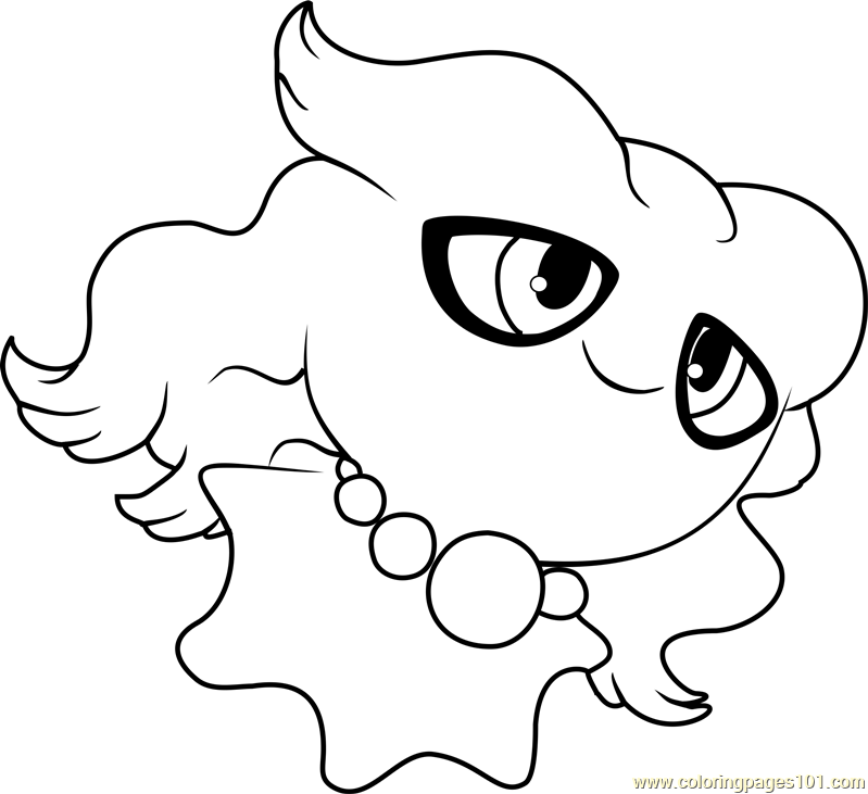 Misdreavus Pokemon Coloring Page