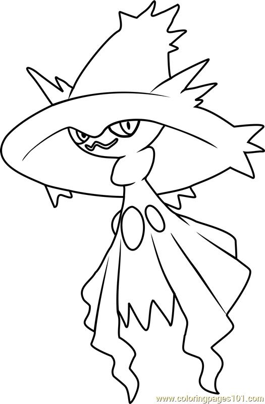 mismagius pokemon coloring page free pok233mon coloring