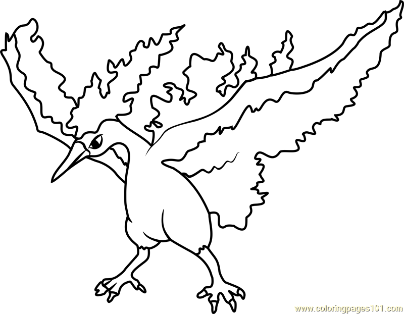 moltres pokemon coloring page - Pokemon Pics To Color