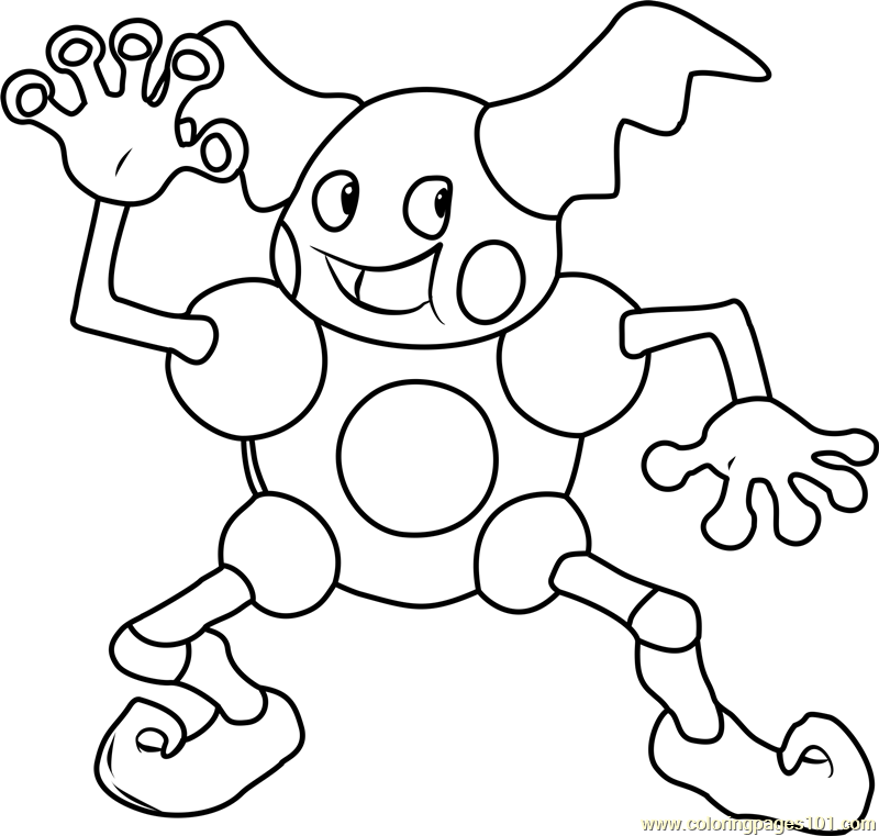 Mr. Mime Pokemon Coloring Page