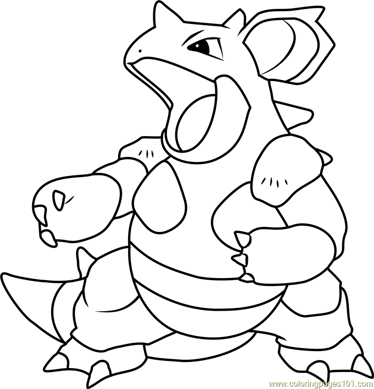 Nidoqueen Pokemon Coloring Page