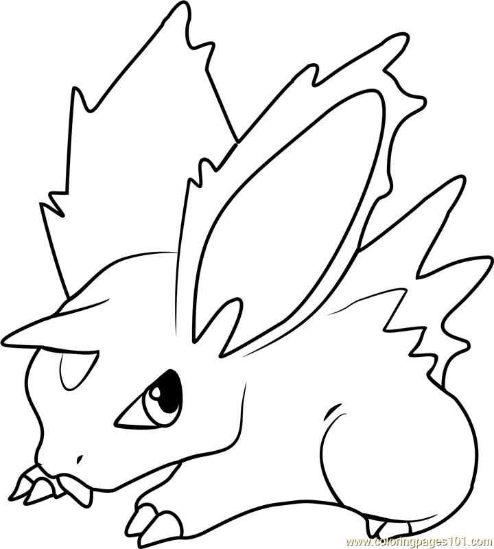 Nidoran Pokemon Coloring Page - Free Pokémon Coloring ...
