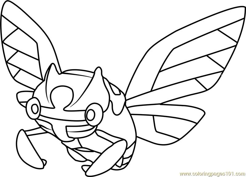 Ninjask Pokemon Coloring Page