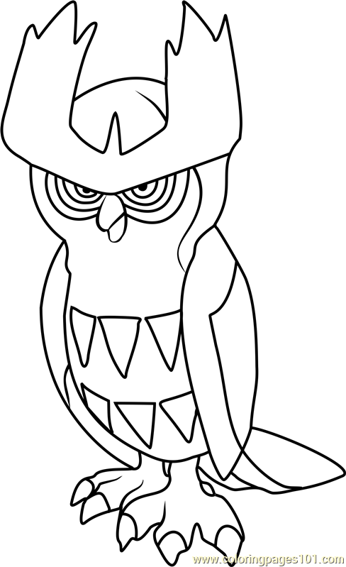 Noctowl Pokemon Coloring Page Free Pok 233 Mon Coloring