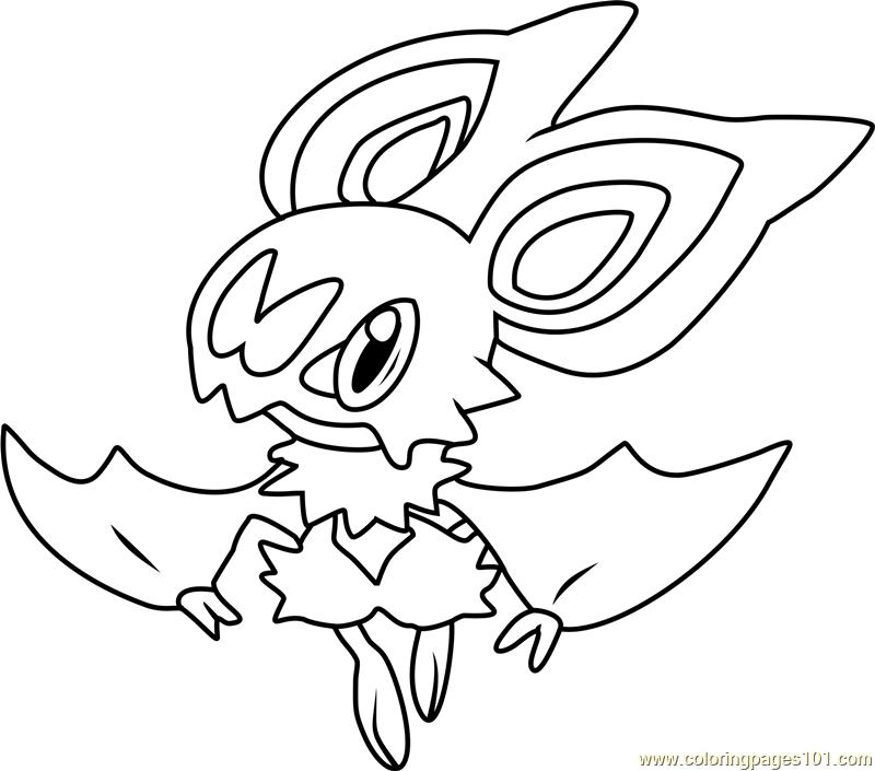 Noibat Pokemon Coloring Page Free Pok mon Coloring Pages