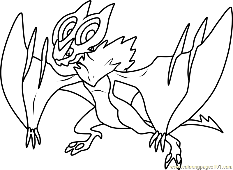Noivern Pokemon Coloring Page Free Pokmon Coloring Pages