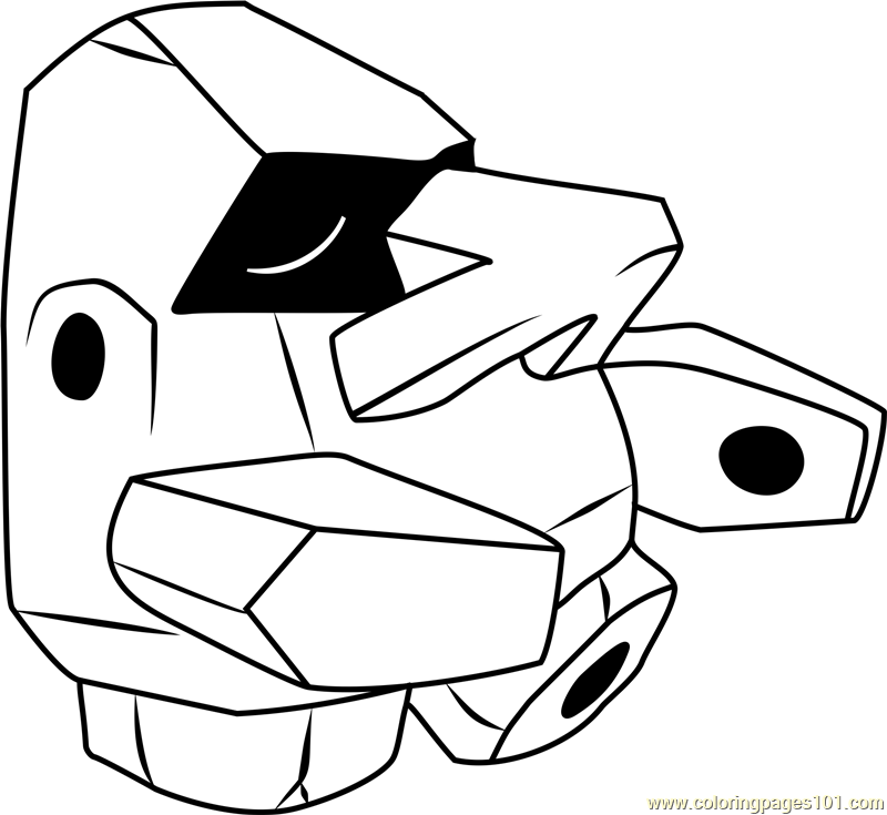 Nosepass Pokemon Coloring Page