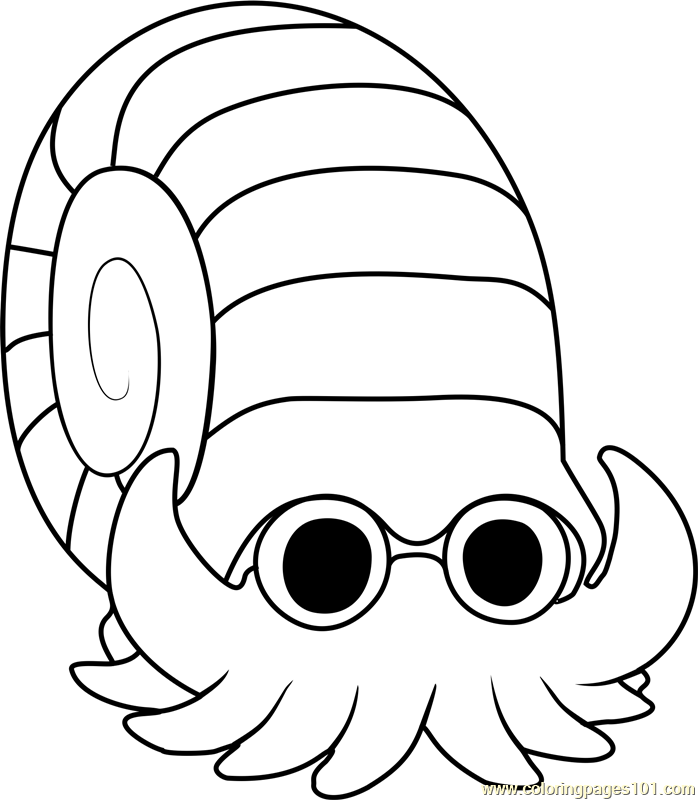 Omanyte Pokemon Coloring Page