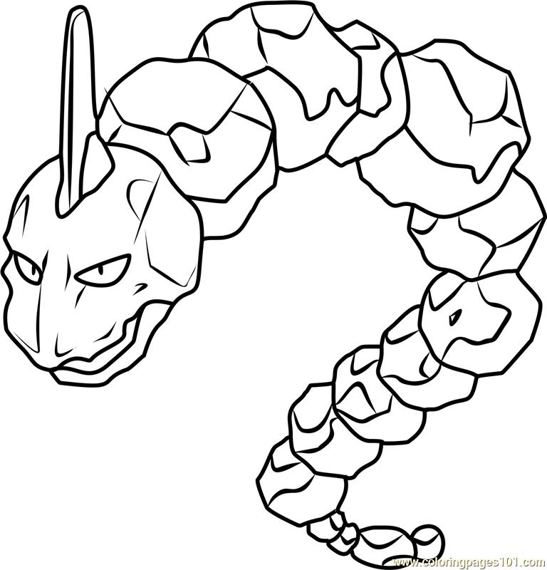 Onix Pokemon Coloring Page Free