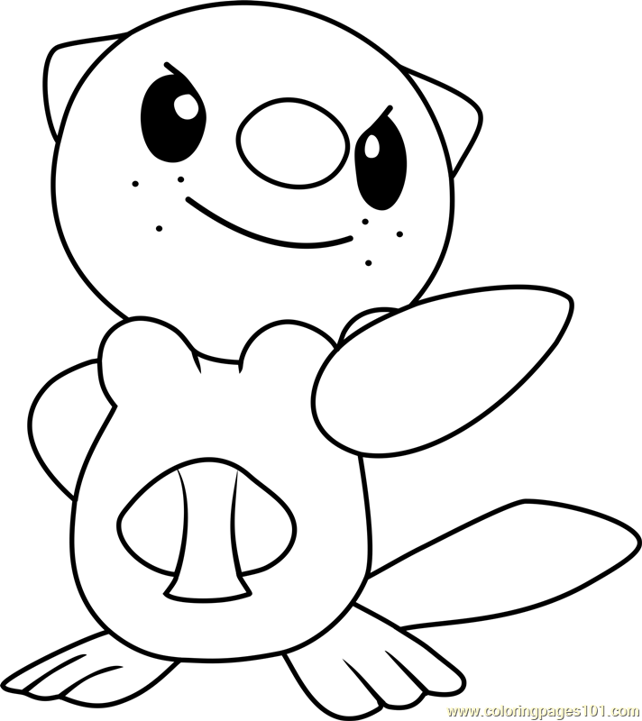 Oshawott Pokemon Coloring Page