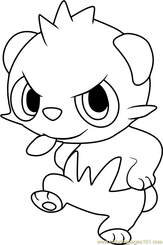 Pancham Pokemon Coloring Page Free Pok 233 Mon Coloring Colouring In Pages