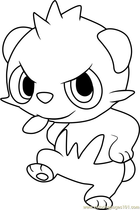 Pancham Pokemon Coloring Page - Free Pokémon Coloring Pages ...