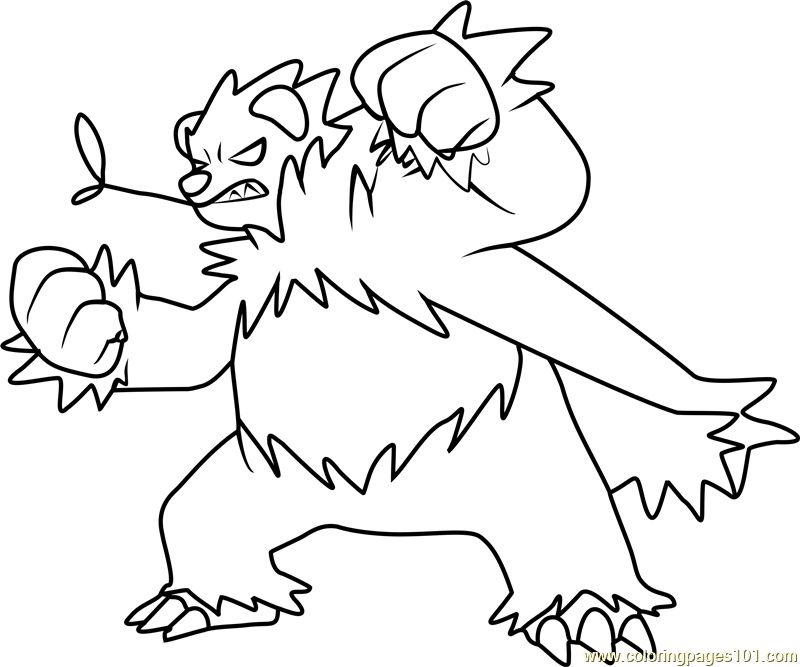 Pangoro Pokemon Coloring Page