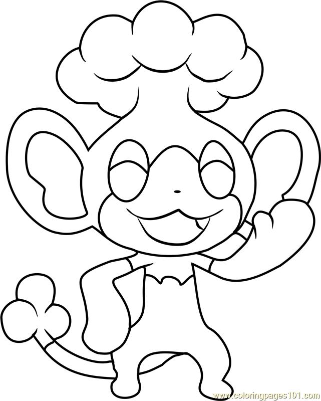 Panpour Pokemon Coloring Page Free Pok mon Coloring