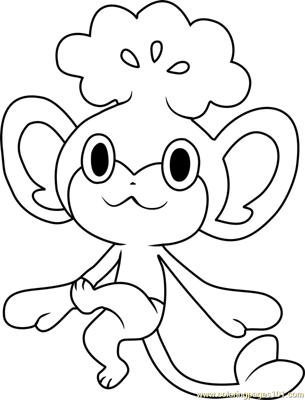 pokemon coloring pages pansage black - photo#18