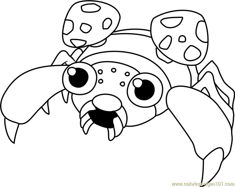Paras Pokemon Coloring Page Free Pok 233 Mon Coloring Pages