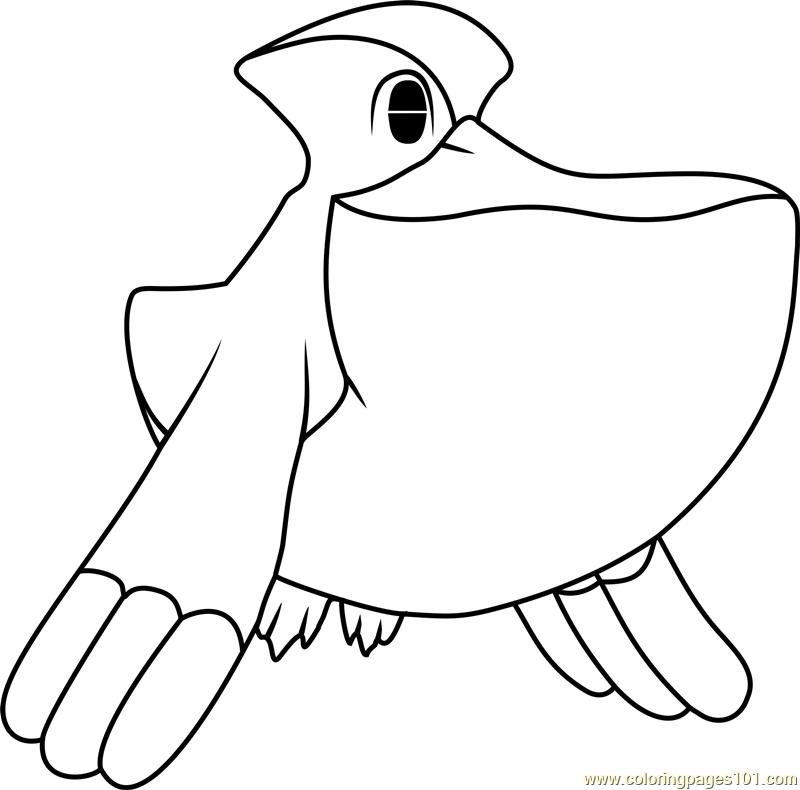 Pelipper Pokemon Coloring Page