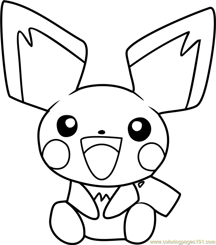 pichu pokemon coloring page free pok233mon coloring pages