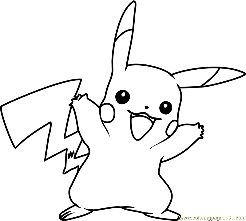 Pikachu pokemon coloring page free pok mon coloring for Pikachu coloring page